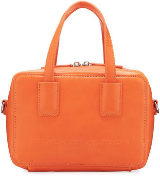 French Connection Wynn Faux-Leather Satchel Bag