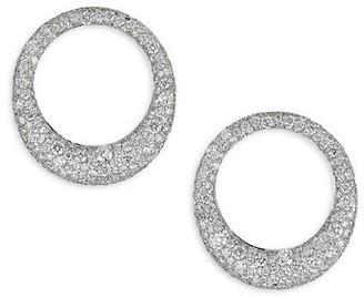 Anita Ko 18K White Gold & Diamonds Galaxy Hoop Earrings