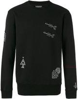 Lanvin embroidered motif sweatshirt