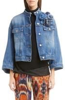 Dries Van Noten Women's Crop Denim Jacket