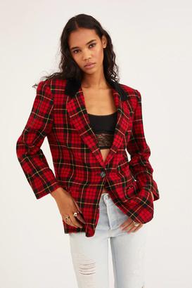 Urban Renewal Vintage Recycled Check Wool Oversized Blazer