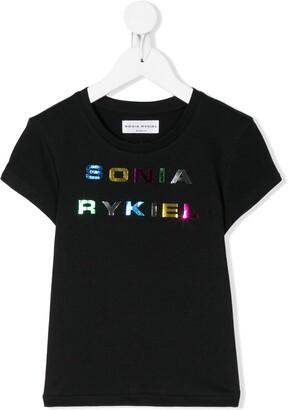 Sonia Rykiel Enfant logo print short-sleeve T-shirt