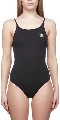 adidas Logo Print Swimsuit