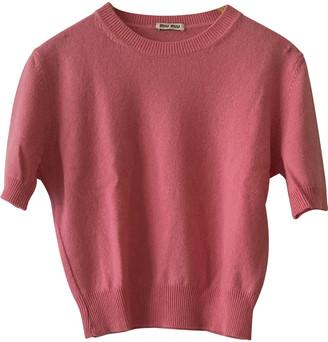 Miu Miu Pink Cashmere Knitwear