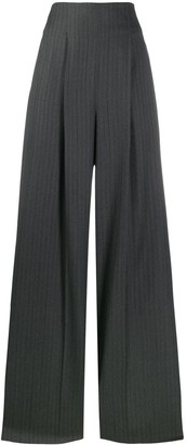 Salvatore Ferragamo Striped Wide-Leg Trousers