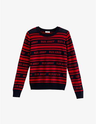 Claudie Pierlot Slogan-print wool jumper