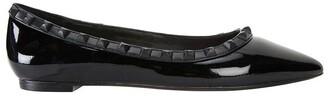Pink Inc Iggy Black Patent Flat Shoes Black