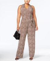 MICHAEL Michael Kors Size Leopard-Print Jumpsuit