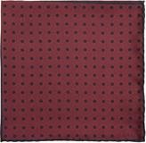Lanvin Contrast-panel polka-dot silk pocket square