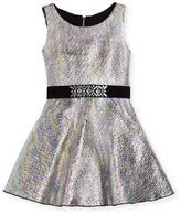 Zoë Ltd Sleeveless Metallic Fit-and-Flare Dress, Multicolor, Size 2-6