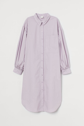 H&M Cotton Shirt Dress - Purple