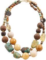 Barse FINE JEWELRY Art Smith by Gemstone & Wood Beaded Necklace