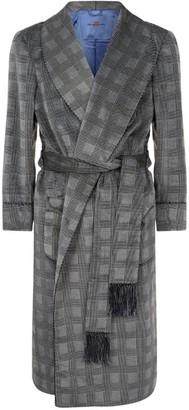Daniel Hanson Velvet Check Robe