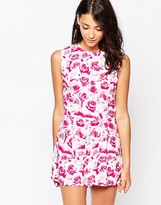Motel Lomas Sleeveless Romper in Monorose Pink