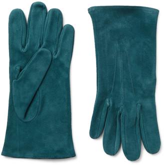 Anderson & Sheppard Camoshita Suede Gloves - Men - Blue
