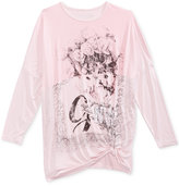 GUESS Roses Graphic-Print Tie-Hem Shirt, Big Girls (7-16)