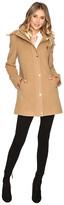 Ellen Tracy Plush Wool Military Coat