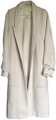 Maison Margiela Ecru Wool Coat for Women