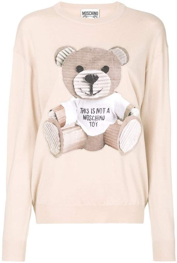 Moschino Toy Bear fine knit sweater