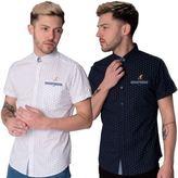 Kangol Designer Jonah Mens Short Sleeve Casual Shirt Top Sizes S M L Xl Xxl