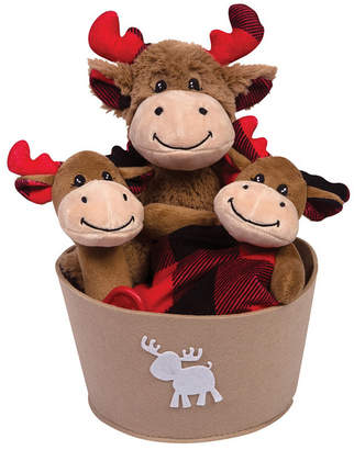Trend Lab Buffalo Check Moose 4-Piece Baby Gift Set Bedding