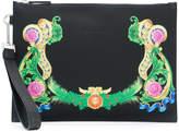 Versace signature printed clutch