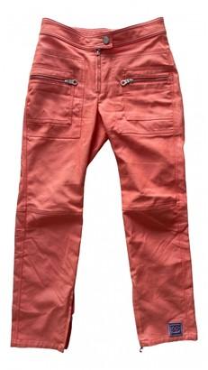 Chanel Orange Cotton Trousers for Women Vintage