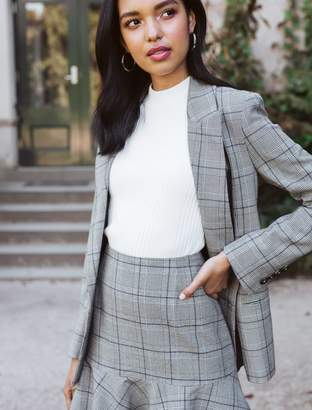 Ever New Simone Fit and Flare Check Skirt