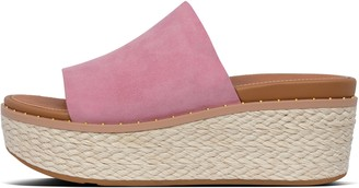 FitFlop Eloise Espadrille Suede Wedge Slides
