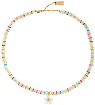 Marc Jacobs Multicolor The Daisy Beaded Necklace