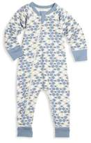 Sapling Baby's Asymmetric Zip Front Honeybee Organic Cotton Footsie