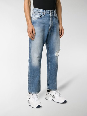Acne Studios Distressed Straight-Leg Jeans