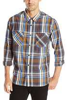 Levi's Men's Herschel Yarn Dyed Poplin Long Sleeve Woven