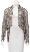 Rachel Roy Open-Knit Metallic Cardigan w/ Tags