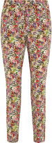 Equipment Hadley floral-print washed-silk tapered pants