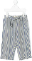 Nice Things Striped trousers - kids - Cotton/Linen/Flax/Viscose - 8 yrs
