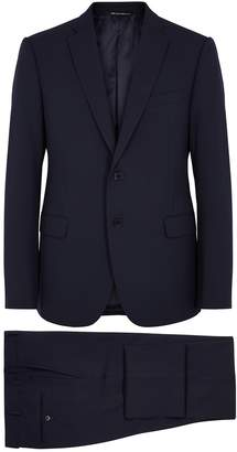 Emporio Armani Navy stretch-twill suit