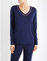 Calvin Klein Naked Touch jersey pyjama top