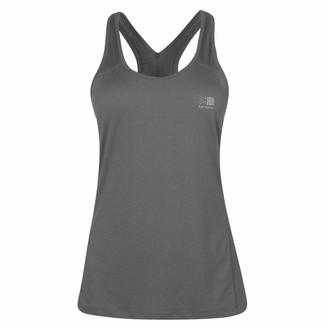 Karrimor Womens Athena Vest Performance Tank Top Scoop Neck Lightweight Training Grey 16 (XL)