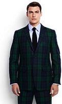 Lands' End Men's Tailored Fit Flannel Tux Jacket-Light Gray Heather