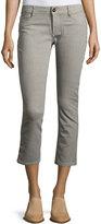 DL1961 Premium Denim Striped High-Rise Crop Jeans, Multi