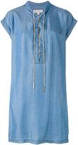 Michael Kors metallic lace-up shift dress - women - Lyocell - XS