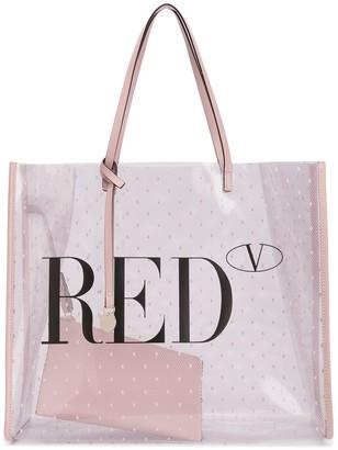 Red(V) Pointote tote bag
