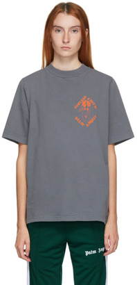 Palm Angels Grey Small Exotic Club T-Shirt