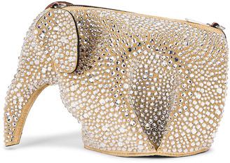 Loewe Elephant Mini Bag in Gold & Crystal | FWRD
