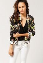 Azalea Floral Print Bomber Jacket