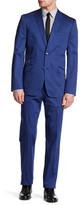Ben Sherman Blue Solid Two Buton Notch Lapel Suit
