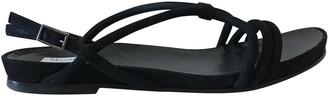 Max Mara Black Suede Sandals