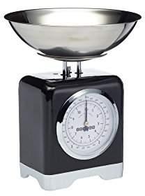 Kitchen Craft Lovello Retro Mechanical Kitchen Scales, 5 kg (11 lb) Capacity - Midnight Black