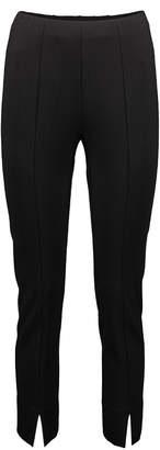 Minna Women's Casual Pants Black - Black Slit-Cuff Ponte Skinny Pants - Women